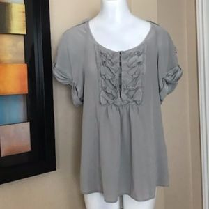 Nanette Lepore Gray Silk Top Size S
